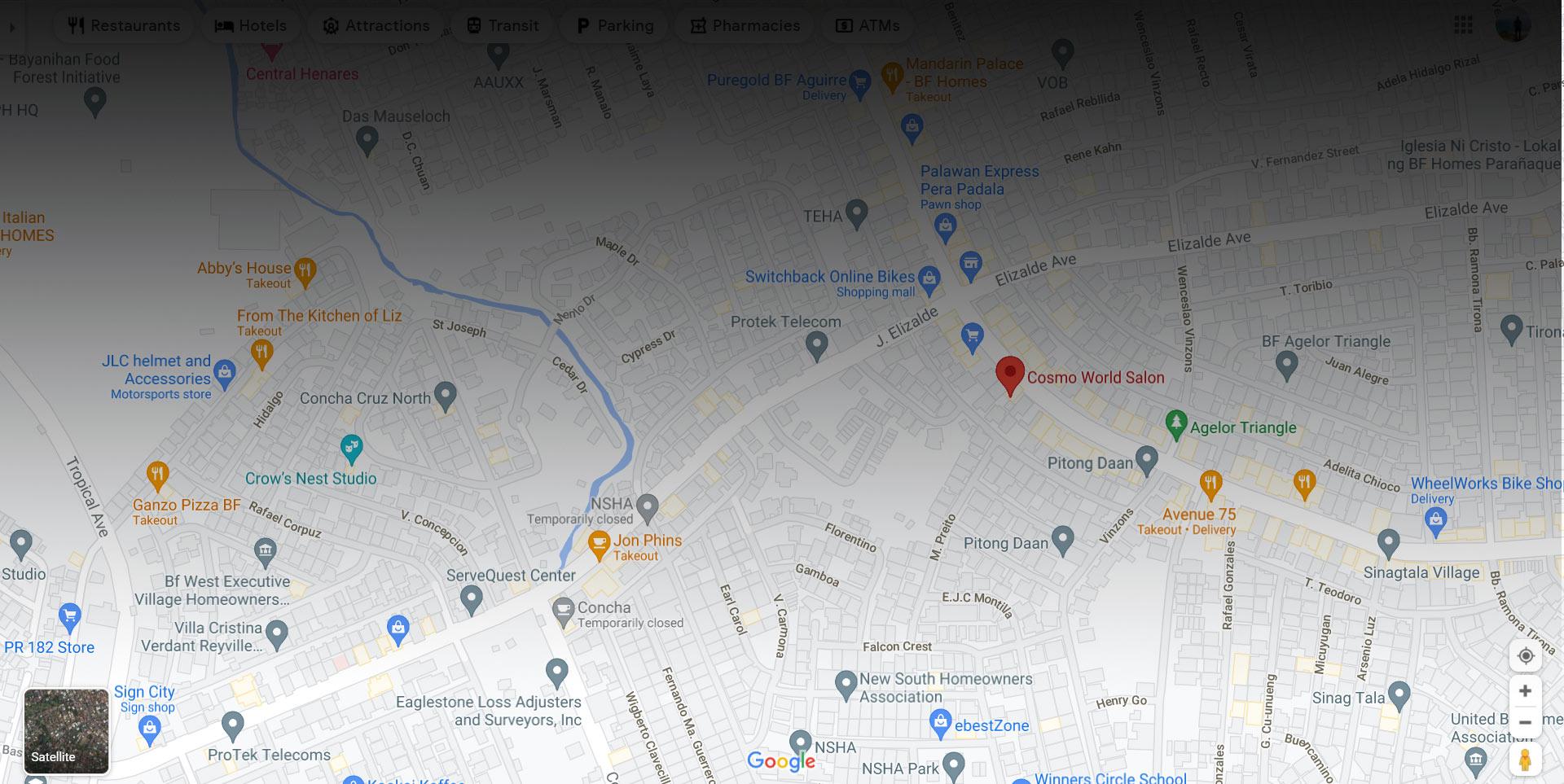 cosmoworld salon map