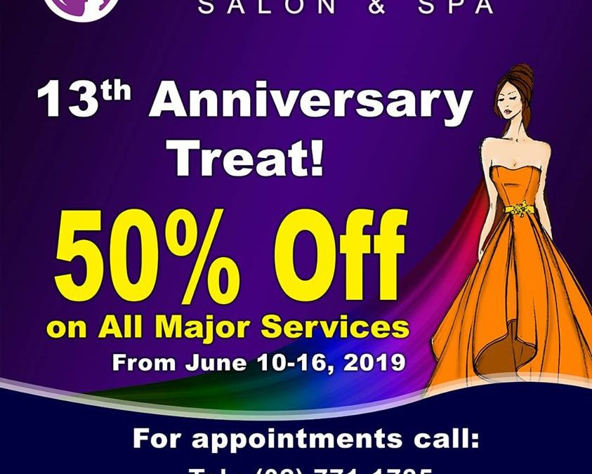 50% off major salon services